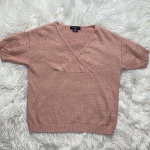 ‼️3/45.00 Michel Studio Knit Short Sleeve Sweater
